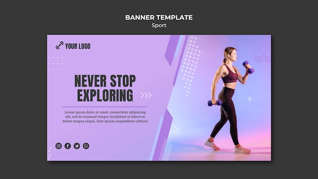 Sport concept banner sjabloon stijl