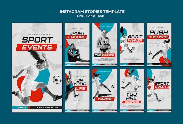 Sport concept instagram verhalen