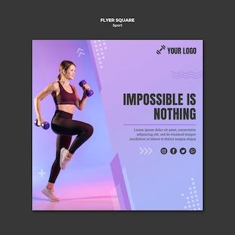Sport conceptontwerp vierkante flyer