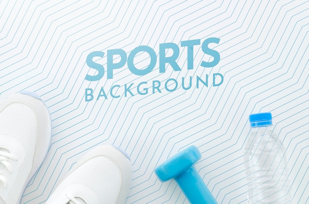 Sport en hydratatie met mock-up