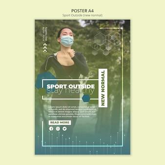 Sport fuori modello di poster