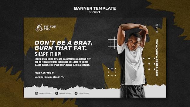 Sport horizontale banner sjabloon