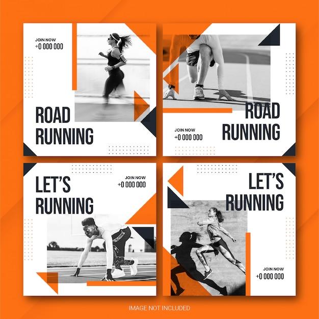Sport instagram-postbundel