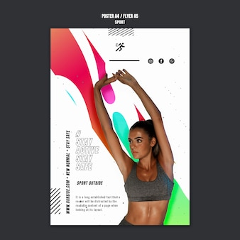Sport motivatie folder sjabloon