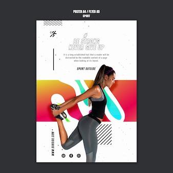 Sport motivatie poster sjabloon