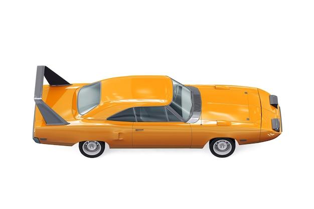 Sport retro auto mockup
