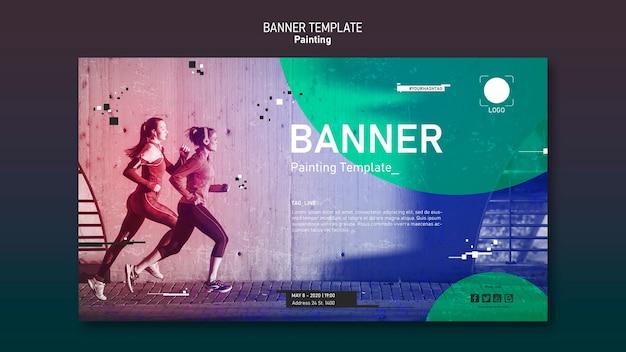 Sport sjabloon banner concept