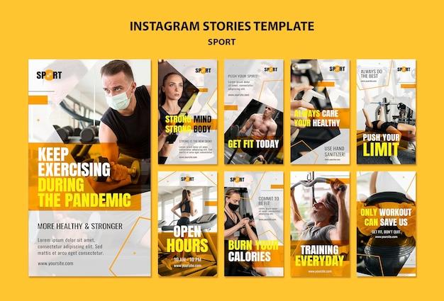 Sport sociale media verhalen