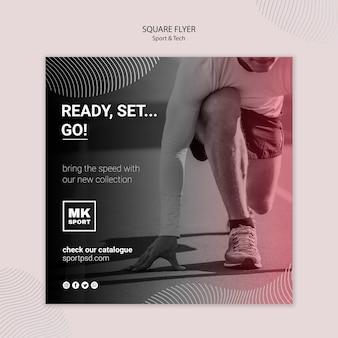 Sport & tech flyer sjabloon concept