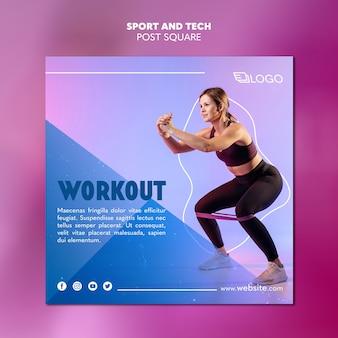 Sport & tech post sjabloon concept