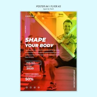 Sport & tech poster sjabloon