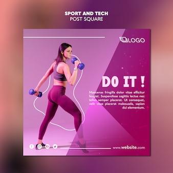 Sport & tech postsjabloonontwerp