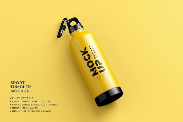 Sport tumbler mockup veranderlijke kleur realistische render