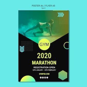 Sport zakelijke sjabloon poster