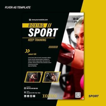 Sportafdruksjabloon met foto