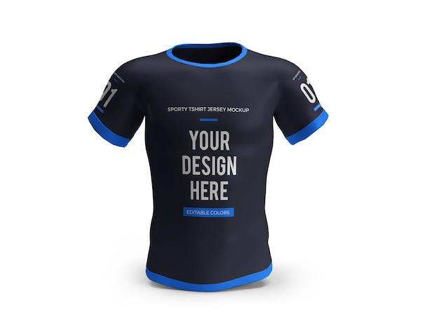 Sportieve t-shirt jersey 3d mockup geïsoleerd