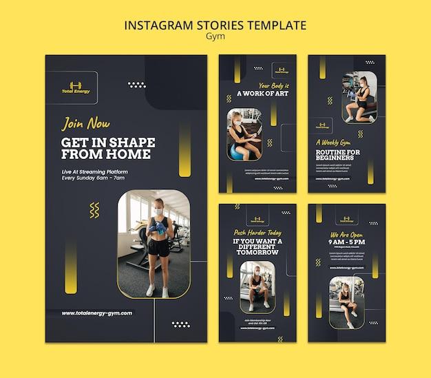 Sportschool instagram verhalen ontwerpsjabloon