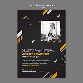 Sportschool poster ontwerpsjabloon