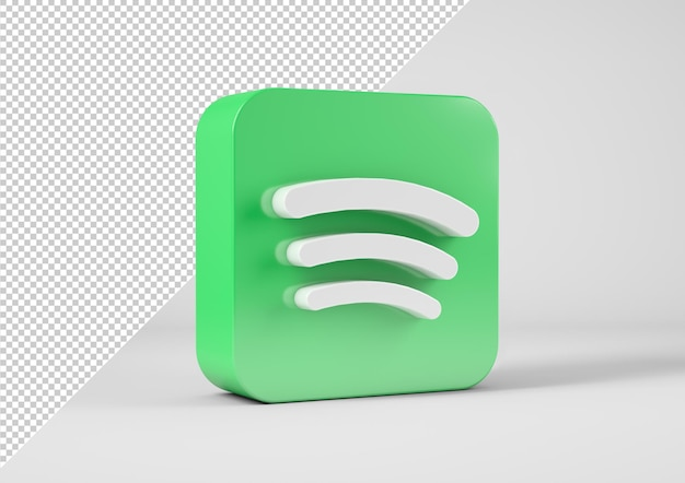 Spotify-logo in 3d-weergave