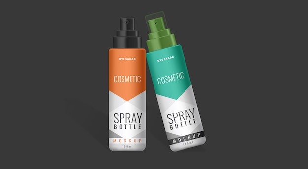 Spray bottle mockup cosmetic