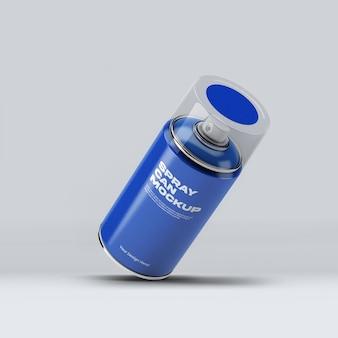 Spray can mockup design in 3d-rendering geïsoleerd