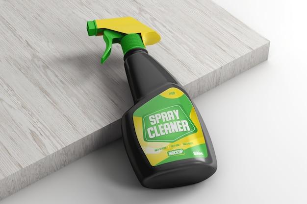 Spray pompfles voor het reinigen van mockup