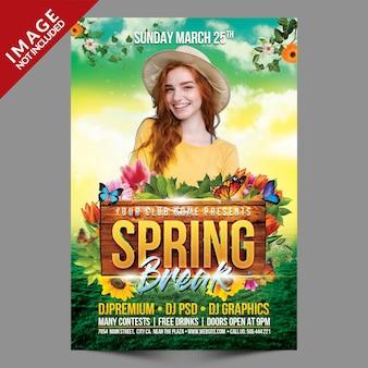 Spring break flyer-sjabloon