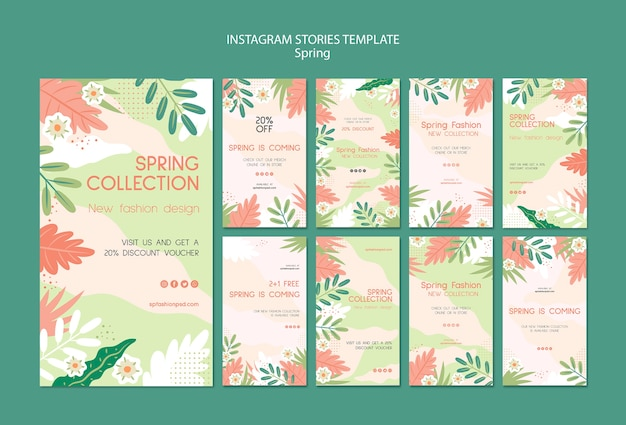 Spring collection instagram stories