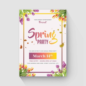 Spring flyer design minimale