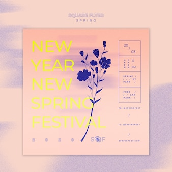 Spring muziek festival flyer thema