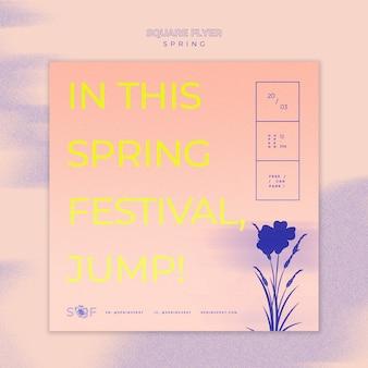 Spring muziek festival flyer