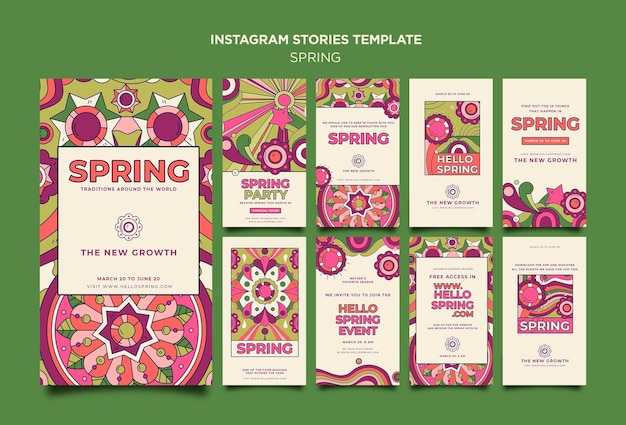 Spring party instagram-verhalen