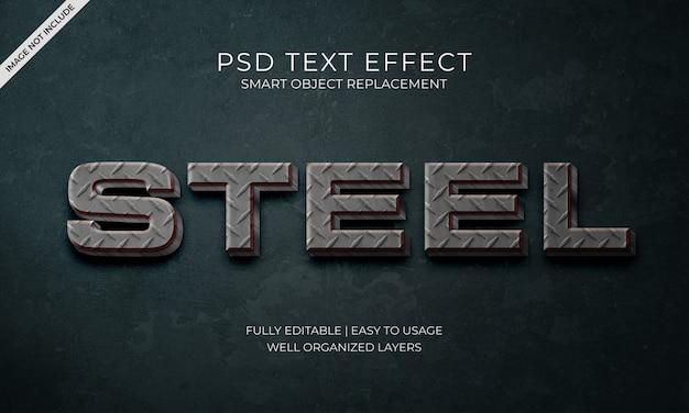 Staal tekst effect