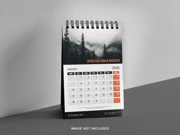 Staande bureaukalender met mockup aan de linkerkant