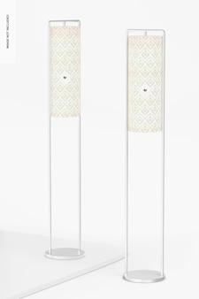 Staande ijzeren frame lampen mockup