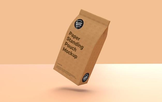 Staande papieren zak mockup