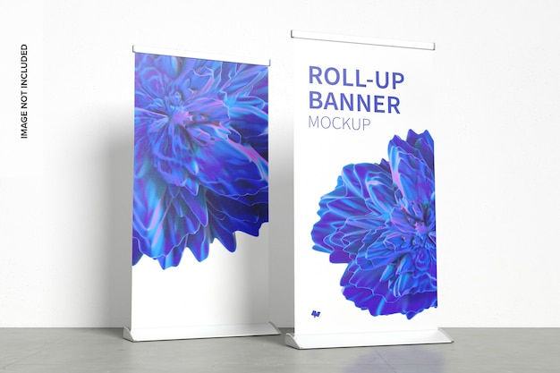 Staande roll-up banners mockup