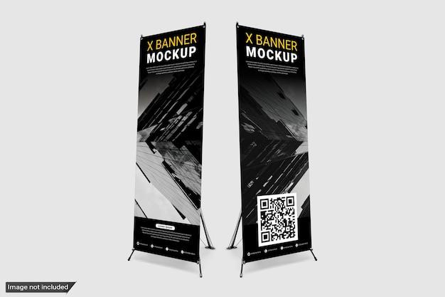 Staande x banner mockup