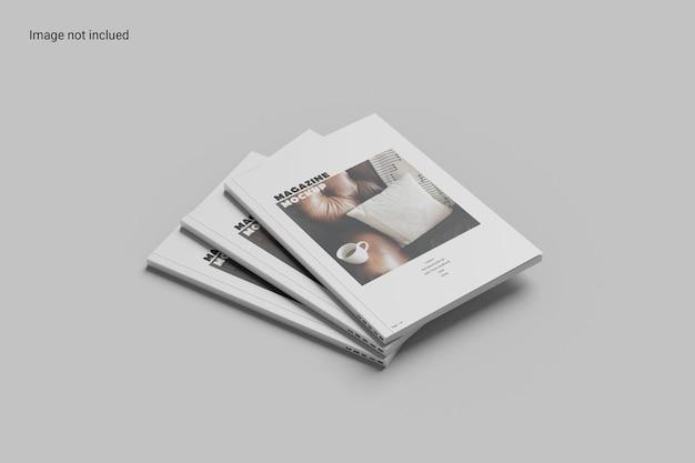 Stack magazine mockup design