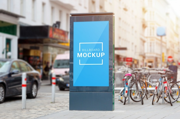 Stadslicht, video led billboard mockup op straat.