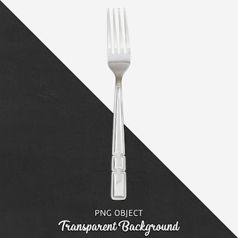Stalen diner vork op transparante achtergrond