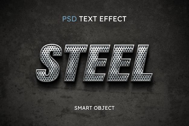 Stalen tekststijleffect