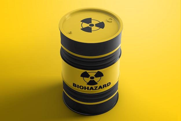 Stalen vat vat container mockup