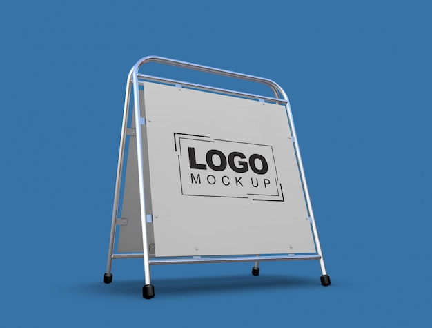 Stand y logo mock-up