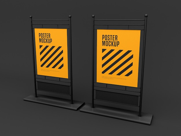 Stand poster mockup
