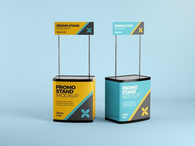 Stand promocional con maqueta editable psd