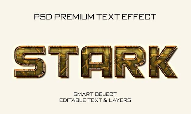 Stark scifi-teksteffectontwerp