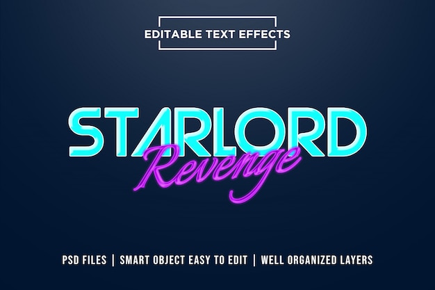 Starlord revenge-teksteffecten