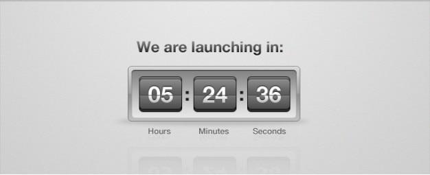 Start countdown clock flip psd