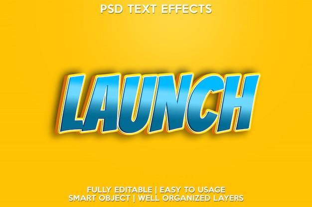 Start teksteffect